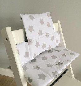 """Coussin """"Étoiles - Blanc"""" pour chaise haute Stokke Tripp Trapp"""