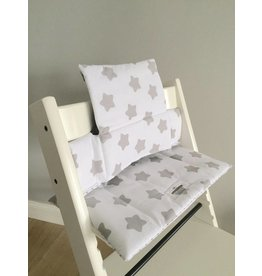 "Highchair cushion ""Stars white"" for Stokke Trip Trapp"