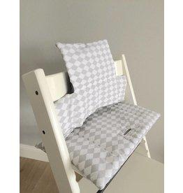 """Coussin """"Losange gris"""" pour chaise haute Stokke Tripp Trapp"""