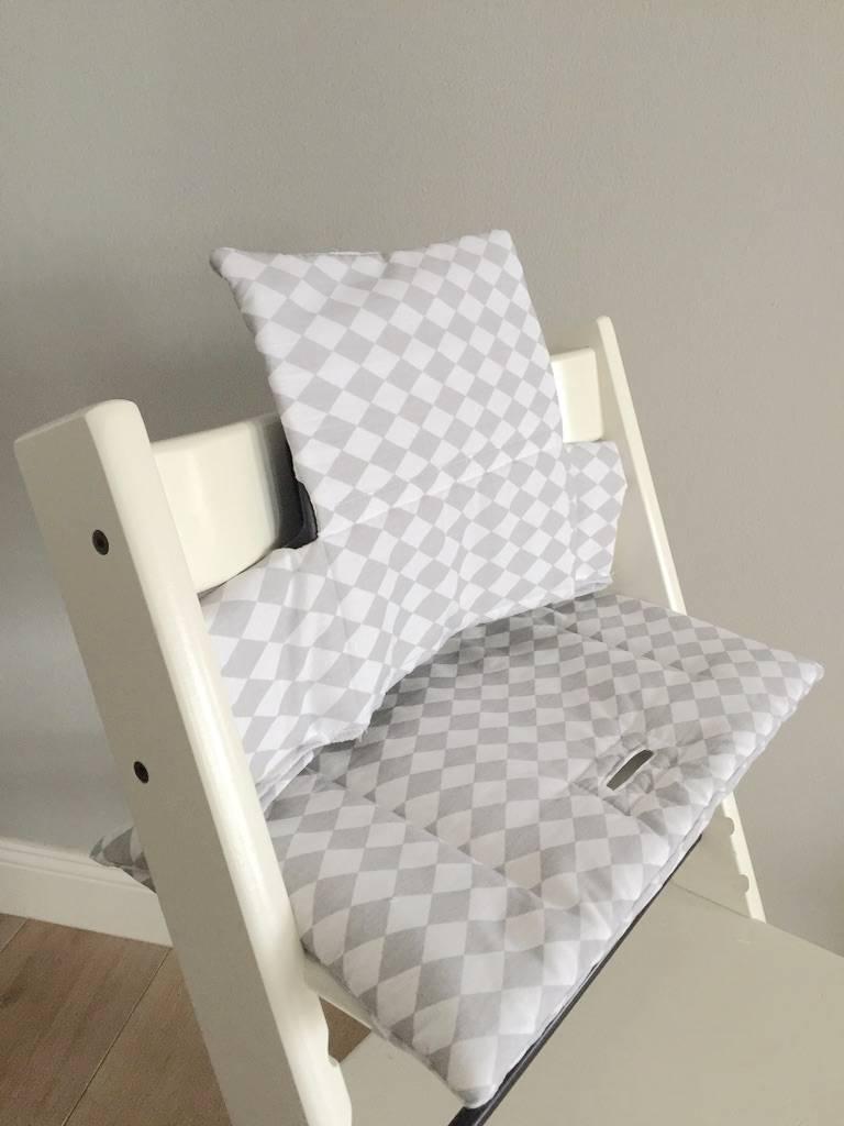 Highchair Cushion Rhombic Grey For Stokke Tripp Trapp