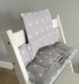 "Highchair cushion ""Stars small grey"" for Stokke Tripp Trapp"