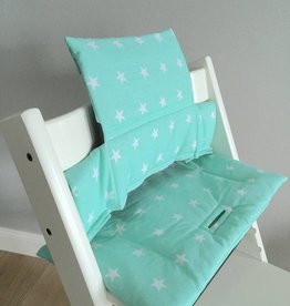 "Highchair Cushion ""Stars Mint"" for Stokke Tripp Trapp"