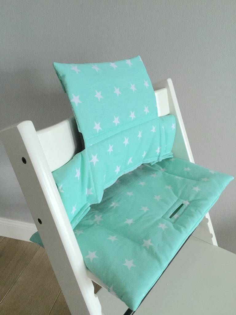 Stokke high chair blue - Highchair Cushion Stars Mint For Stokke Tripp Trapp