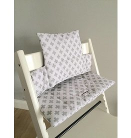 "Highchair Cushion ""cross white"" for Stokke Tripp Trapp"