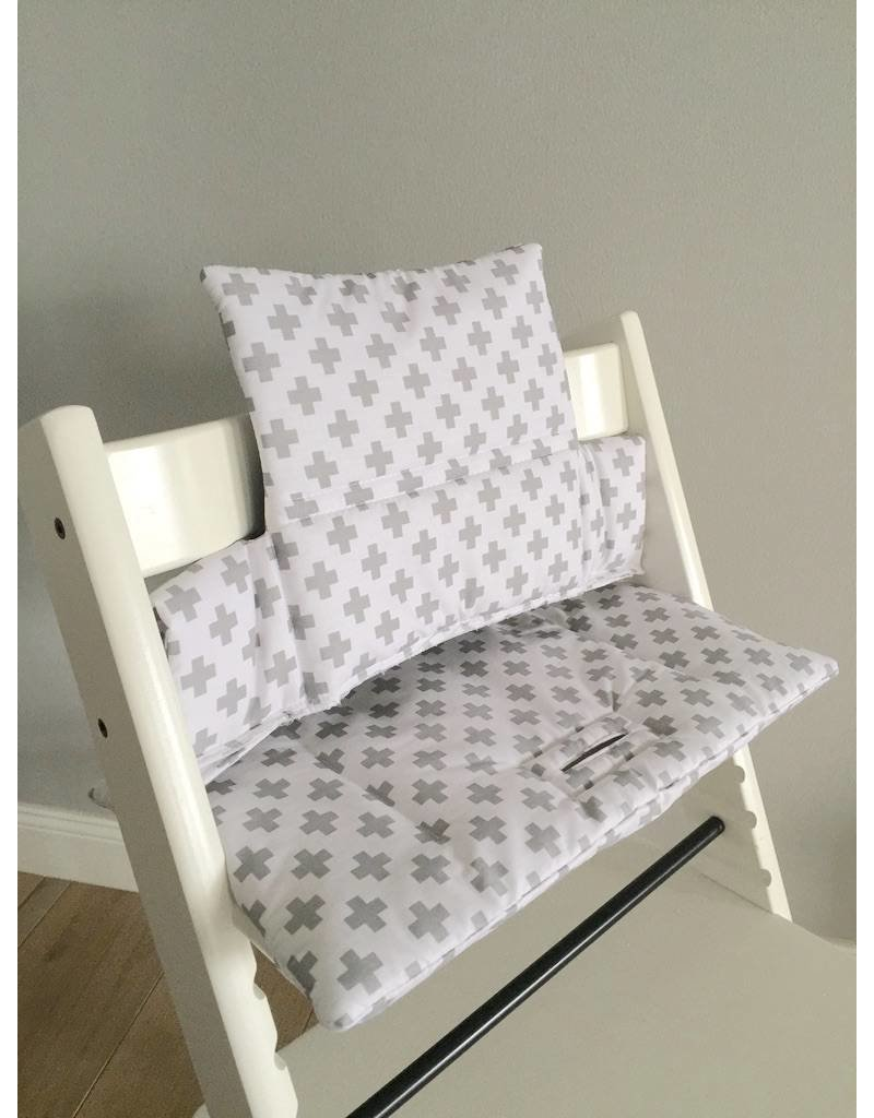 sitzkissen kreuze wei f r stokke tripp trapp puckdaddy puckdaddy. Black Bedroom Furniture Sets. Home Design Ideas