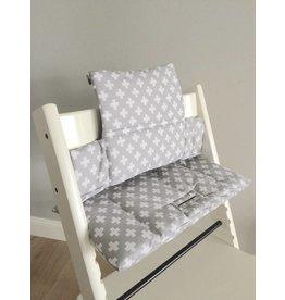 "Highchair Cushion ""cross grey"" for Stokke Tripp Trapp"