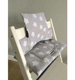 """Coussin """"Petites étoiles- gris"""" pour chaise haute Stokke Tripp Trapp"""