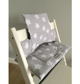 "Highchair cushion ""Stars grey"" for Stokke Tripp Trapp"