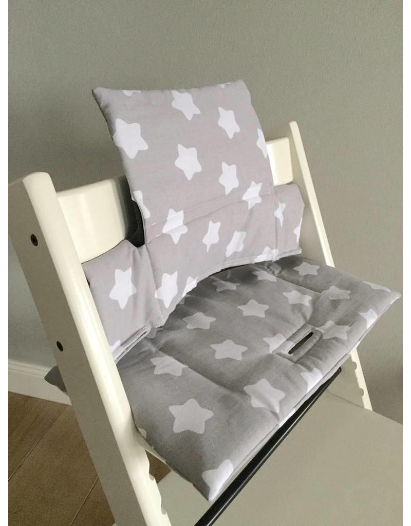 sitzkissen sterne grau f r stokke tripp trapp puckdaddy puckdaddy. Black Bedroom Furniture Sets. Home Design Ideas