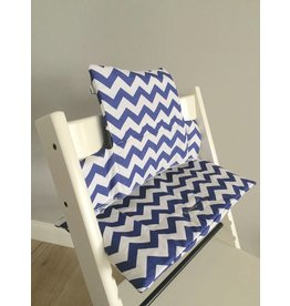 "Highchair Cushion ""Chevron blue"" for Stokke Tripp Trapp"