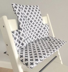 "Highchair Cushion ""cross black/white"" for Stokke Tripp Trapp"