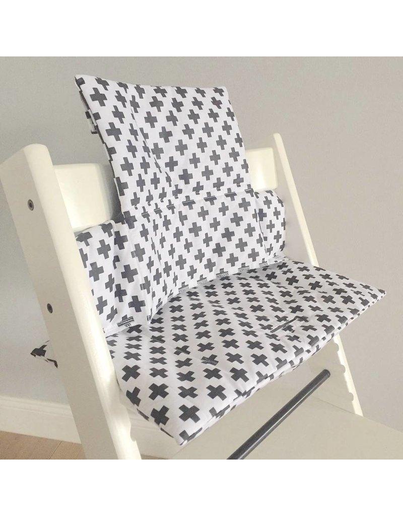 "Highchair Cushion ""cross black/white"" for Stokke Tripp Trapp"