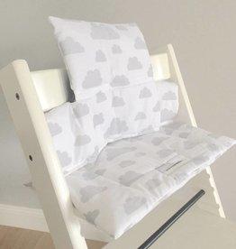 """Coussin """"Nuages blanc"""" pour chaise haute Stokke Tripp Trapp"""