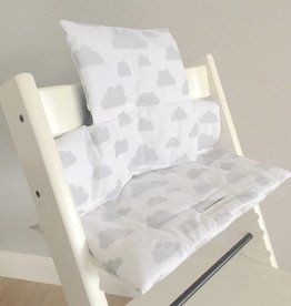 "Highchair Cushion ""Clouds white"" for Stokke Tripp Trapp"