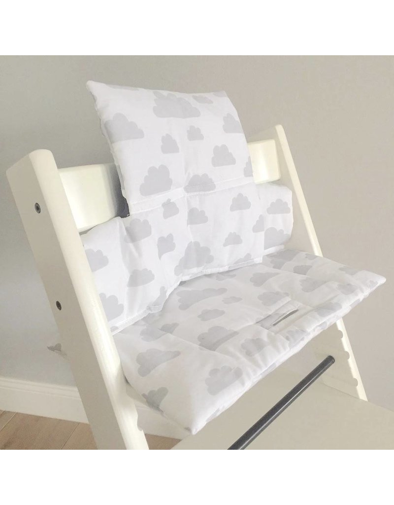"""Highchair Cushion """"Clouds white"""" for Stokke Tripp Trapp"""
