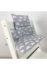 "Highchair cushion ""clouds grey"" for Stokke Tripp Trapp"