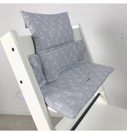 "Coussin ""ancre gris"" pour chaise haute Stokke Tripp Trapp"