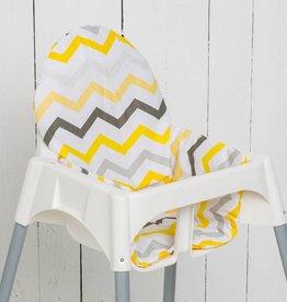 """Sitzkissen """"Chevron Gelb"""" für Ikea Antilop Hochstuhl"""