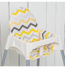 "Highchair cushion ""chevron yellow"""