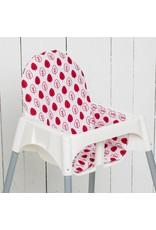 """Sitzkissen """"Blätter rot""""  für Ikea Antilop"""