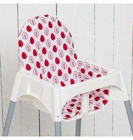 """Coussin """"Feuilles rouge"""" pour chaise haute Antilop de IKEA"""