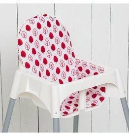 "Highchair cushion ""leaf red"""
