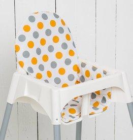 "Highchair Cushion ""Dots Orange"""
