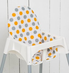 """Sitzkissen """"Punkte Orange""""  für Ikea Antilop und Blames Hochstuhl"""