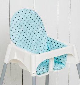 """Puckdaddy Sitzkissen """"Sterne mint"""" für Ikea Antilop und Blames Hochstuhl"""