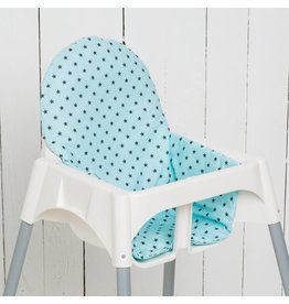 "Highchair cushion ""stars mint"""