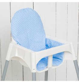 "Highchair cushion ""dots lightblue"""