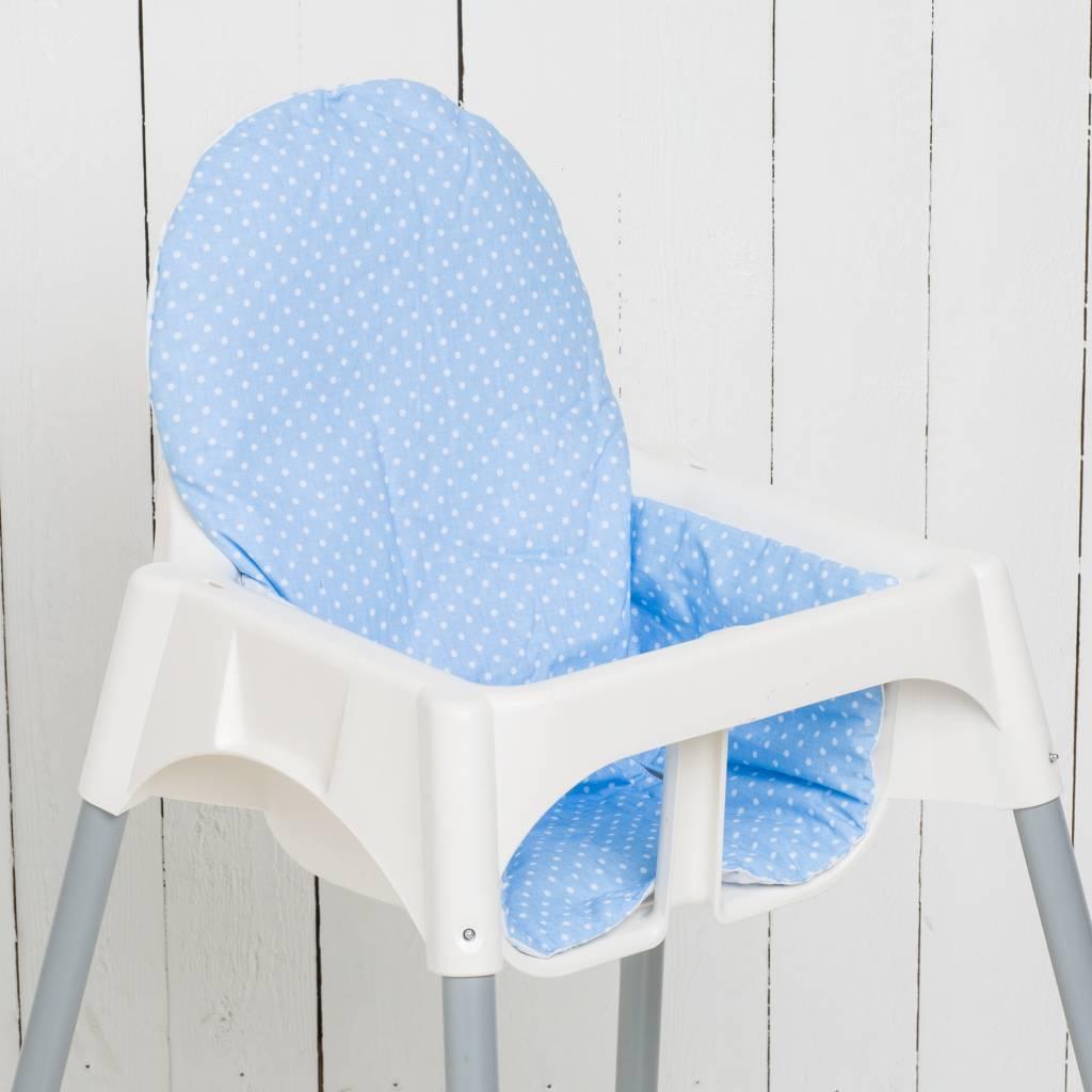 """Sitzkissen """"Punkte hellblau"""" für Ikea Antilop"""