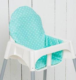 """Sitzkissen """"Punkte/ Sterne mint"""" für Ikea Antilop Hochstuhl"""