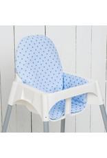 """Sitzkissen """"Sterne hellblau""""  für Ikea Antilop"""
