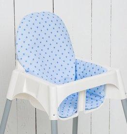 """Puckdaddy Sitzkissen """"Sterne hellblau"""" für Ikea Antilop und Blames Hochstuhl"""