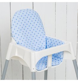 "Highchair cushion ""stars lightblue"""
