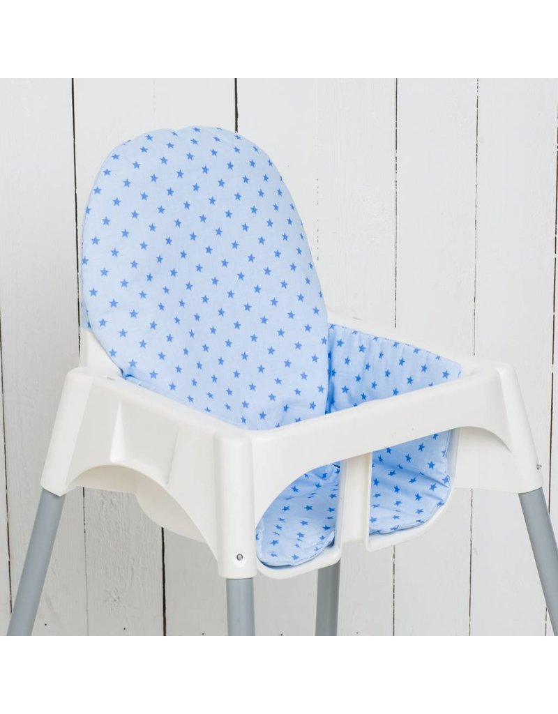 "Highchair cushion ""stars lightblue""  for IKEA Antilop"