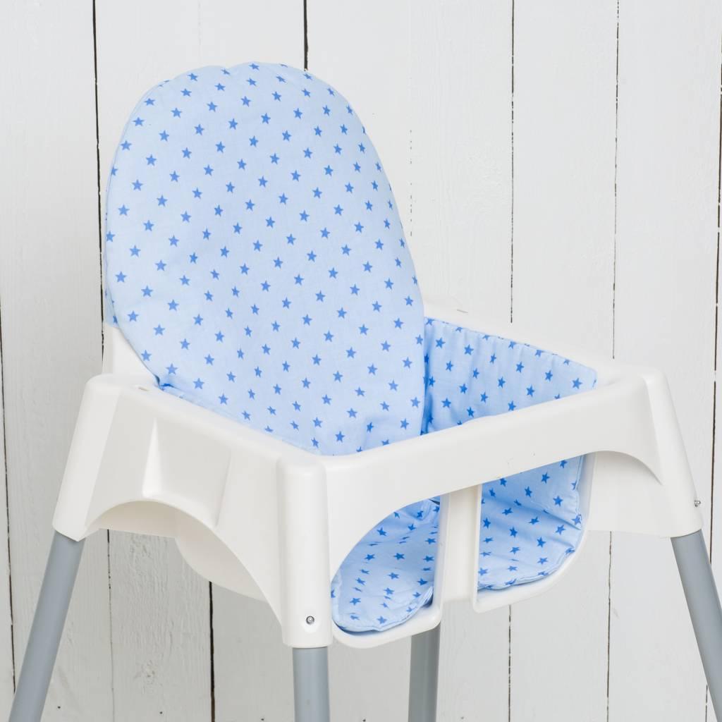 """Sitzkissen """"Sterne hellblau""""  für Ikea Antilop und Blames"""