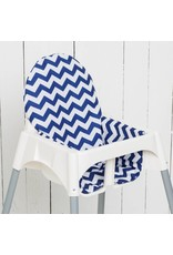 "Highchair cushion ""chevron blue"" for IKEA Antilop"