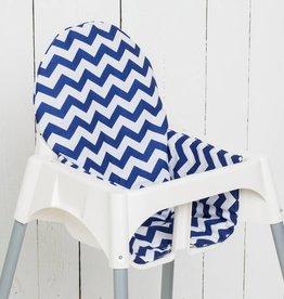 """Sitzkissen """"Chevron Blau"""" für Ikea Antilop Hochstuhl"""