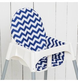 "Highchair cushion ""chevron blue"""