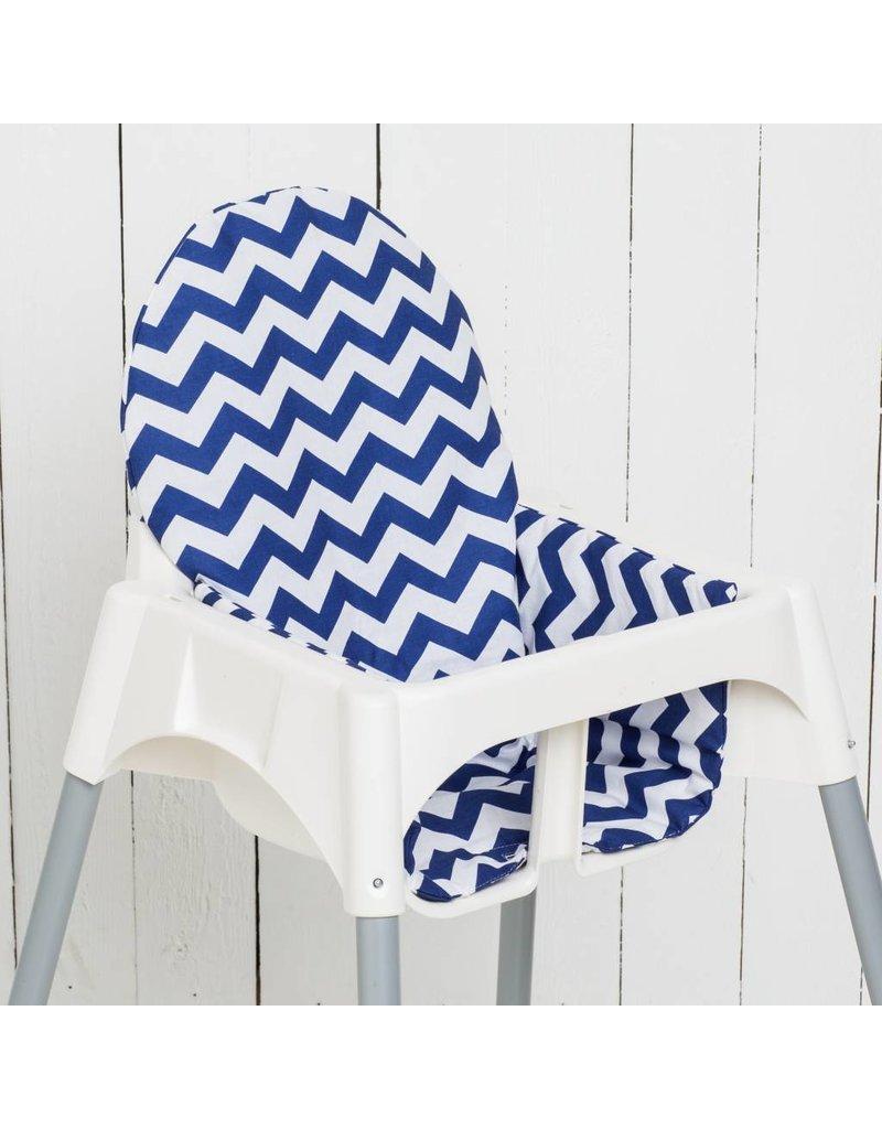 """Sitzkissen """"Chevron Blau""""  für Ikea Antilop"""