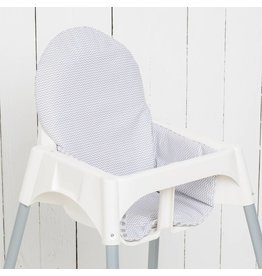 "Highchair cushion ""chevron/checked"""