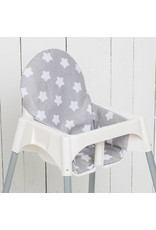 "Highchair Cushion ""stars grey"" for IKEA Antilop"