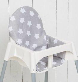 """Puckdaddy Sitzkissen """"Sterne/ Pünktchen grau"""" für Ikea Antilop und Blames"""