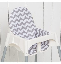 "Highchair cushion ""chevron/ stripes"""
