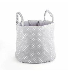 "Storage Basket ""Dots small grey"""