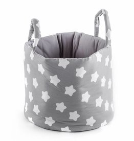 "Storage Basket ""Stars grey"""
