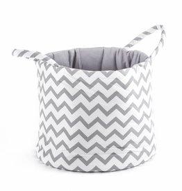 """Storage Basket """"Chevron white"""""""