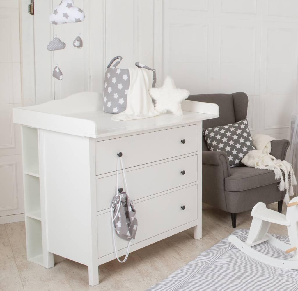storage shelf for ikea hemnes dresser puckdaddy nursery furniture textiles d cor. Black Bedroom Furniture Sets. Home Design Ideas